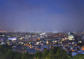 Central seoul south korea at night — Foto Stock