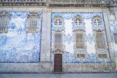 Iglesia de baldosas en oporto portugal — Foto de Stock