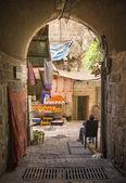 Strada di città vecchia di Gerusalemme Israele — Foto Stock