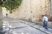 Old town street of jerusalem israel — Stock Photo