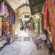 Market in jerusalem old town israel — Stock Photo
