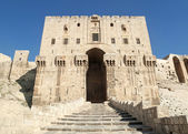 Aleppo ancient citadel landmark in syria — Stock Photo