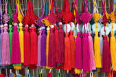 Colourful souvenirs in china market — Photo