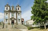 Santo ildefonso church in porto portugal — Stockfoto