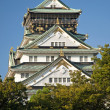 Osaka castle landmark in japan — Stock Photo