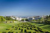 View of eduardo 7th park gardens lisbon portugal — Stok fotoğraf