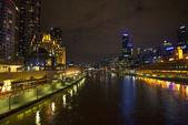 Central melbourne skyline in australia — Stock Photo