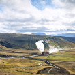 Geothermal energy plant in interior of iceland — Stock Photo