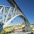 Dom luis bridge landmark in porto portugal — Stock Photo