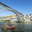 Dom luis bridge porto portugal — Stock Photo