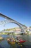 Dom luis bridge porto portugal — Stock Photo
