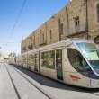 Modern tram in jerusalem israel — Stock Photo
