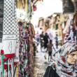Woman in palestinian area of jerusalem old town israel — Stock Photo