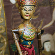 Stock Photo: Traditional wooden puppet in ubud bali indonesia