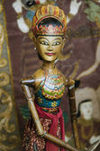 Traditional wooden puppet in ubud bali indonesia — Stock Photo