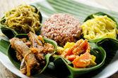 Tradiční vegetariánská karí s rýží v bali indonésie — Stock fotografie