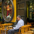 Man smoking in cairo cafe in egypt — Stock Photo #33529867