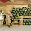 Watermelon stall in cairo egypt — Stock Photo