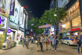 Myeongdong shopping street in central seoul south korea — Foto Stock