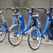 Public shared bicycles in melbourne australia — Stock Photo