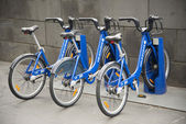 Public shared bicycles in melbourne australia — Foto de Stock