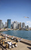 Circular quay in central sydney australia — Stock Photo