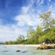 Long beach on koh rong island in cambodia — Stock Photo #37169105