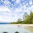 Long beach on koh rong island in cambodia — Stock Photo #37169159