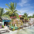 Koh rong island beach bars in cambodia — Stock Photo
