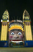 Luna park entrance in sydney australia — Stock Photo