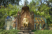 French Siamese treaty monument in Phnom Penh Cambodia — Stock Photo