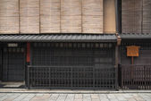 Traditional wood architecture in kyoto japan — Stock Photo