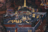 Mural in royal palace of bangkok thailand — Stock Photo