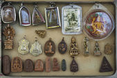 Buddhist amulets in bangkok thailand — Stock Photo
