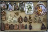 Buddhist amulets in bangkok thailand — Stock Photo