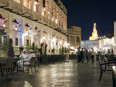 Pedestrian street in old town of doha in qatar — Stock Photo