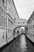 叹息威尼斯的桥梁 — 图库照片