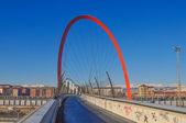 Pedestrian bridge Turin — Stock Photo