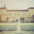 Stock Photo: Palazzo Reale Turin retro look