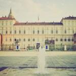 Palazzo Reale Turin retro look — Stock Photo