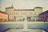 Palazzo Reale Turin retro look — Stock Photo