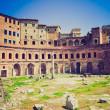 Trajan's Market, Rome retro look — Stock Photo