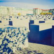 Stock Photo: Holocaust memorial, Berlin retro look