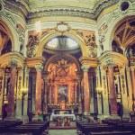 ������, ������: San Lorenzo church Turin retro look