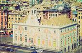 Palazzo San Giorgio, Genoa retro look — Stock Photo