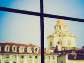 San Lorenzo Turin retro look — Stock Photo