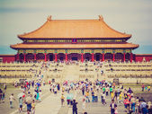 Tiananmen in Peking retro look — Stock Photo