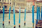 Canal grande, Venice retro look — Fotografia Stock