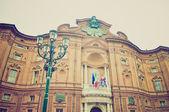 Palazzo Carignano, Turin retro look — Stock Photo
