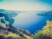 Fira in grecia retrò guardare — Foto Stock